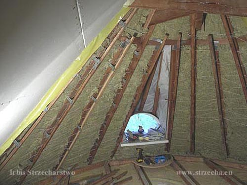 Irbis Thatching Company: Insulation of the roof slope - a wooden frame prepared for under-rafter insulation
