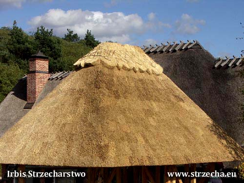 Woodshed - reed roof thatch Irbis