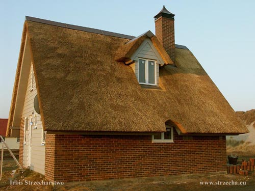 Irbis thatch on a weekend house - Denmark