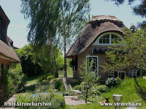 Cottage for children - reed roof, thatched roof Irbis