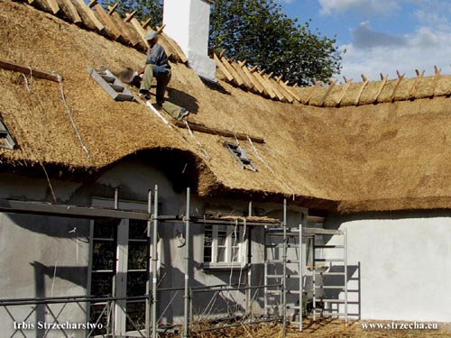 Constructional imagination of thatch above the entrance to the building - thatched roof - Irbis Thatching Rethatching Services
