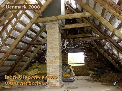 Thatch - a wooden roof structure with thatched roofs with fire protection