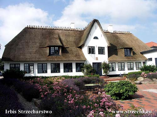 Benniksgaard after making a new thatched roof - new windows with a new shape, new window location and their enlargement